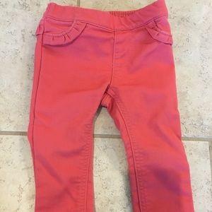Carter's pink denim jeans, size 12 months